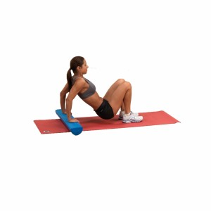 half round roller stretching exercise