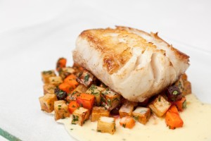 Roasted Cod Ratatouille