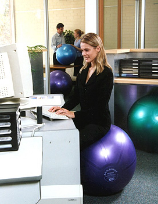 Stability Balls for Workplace Fitness
